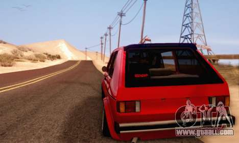 Volkswagen Golf Mk I Punk for GTA San Andreas left view