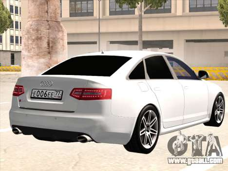 Audi RS6 for GTA San Andreas back view