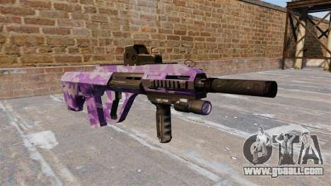 Machine Steyr AUG-A3 Purple Camo for GTA 4