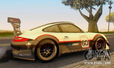 Porsche GT3 R 2009 for GTA San Andreas back left view