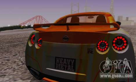 Nissan GTR Heavy Fire for GTA San Andreas upper view