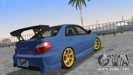 Subaru Impreza WRX STI 2005 for GTA Vice City left view