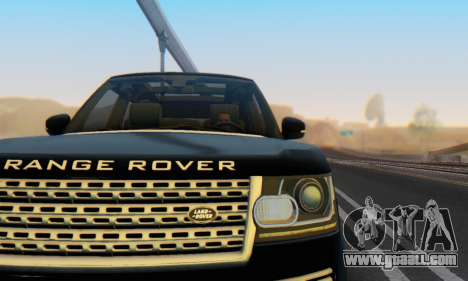 Range Rover Vogue 2014 V1.0 Interior Nero for GTA San Andreas side view