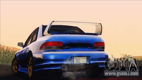 Subaru Impreza 22B STi 1998 for GTA San Andreas bottom view