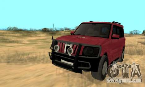 Mahindra Scorpio for GTA San Andreas inner view