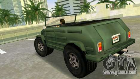 Volkswagen Kuebelwagen for GTA Vice City left view