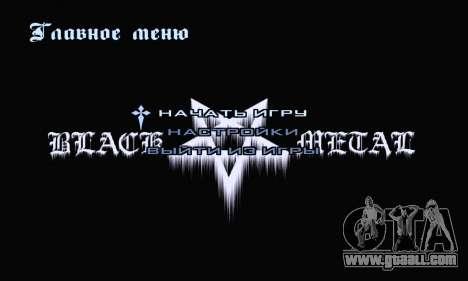 Black Metal Menu (full-screen) for GTA San Andreas second screenshot