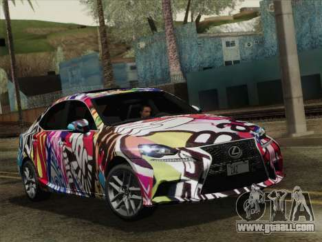 Lexus IS350 FSPORT Stikers Editions 2014 for GTA San Andreas