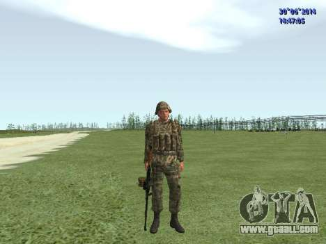 The fighter of the Russian army for GTA San Andreas seventh screenshot