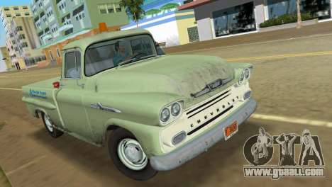Chevrolet Apache Fleetside 1958 for GTA Vice City left view