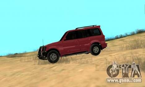 Mahindra Scorpio for GTA San Andreas back left view