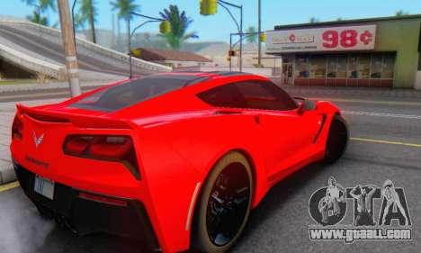 Chevrolet Corvette Stingray C7 2014 for GTA San Andreas inner view
