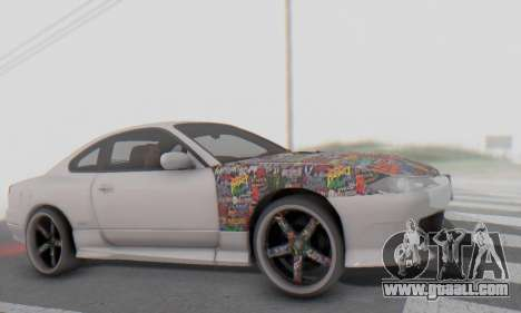 Nissan Silvia S15 Metal Style for GTA San Andreas inner view