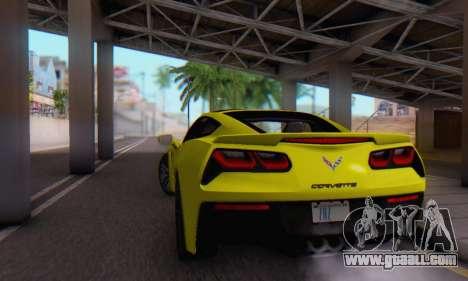 Chevrolet Corvette Stingray C7 2014 for GTA San Andreas side view