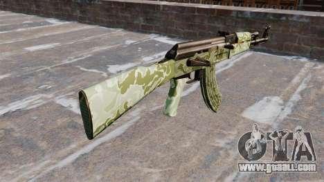 The AK-47 Green camo for GTA 4 second screenshot