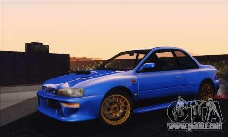 Subaru Impreza 22B STi 1998 for GTA San Andreas back left view
