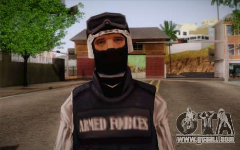 SWAT Snow Camo for GTA San Andreas third screenshot