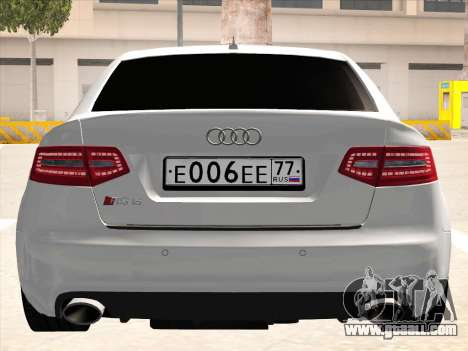 Audi RS6 for GTA San Andreas inner view