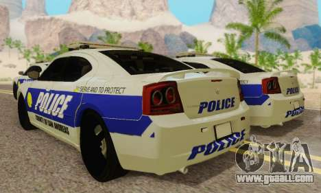 Pursuit Edition Police Dodge Charger SRT8 for GTA San Andreas back view