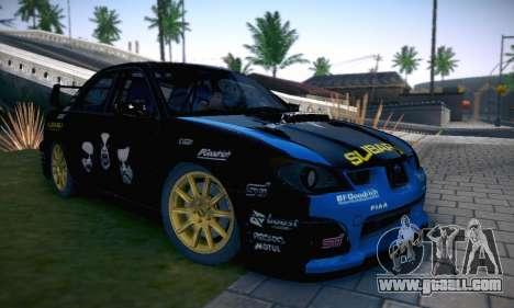 Subaru Impreza WRC STI Black Metal Rally for GTA San Andreas interior