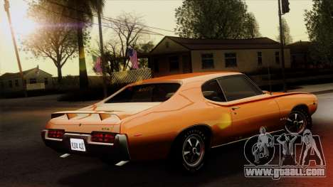 Pontiac GTO The Judge Hardtop Coupe 1969 for GTA San Andreas left view