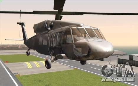 UH-60 Blackhawk for GTA San Andreas