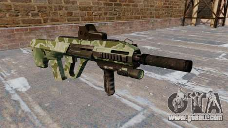 Machine Steyr AUG-A3 Green Camo for GTA 4