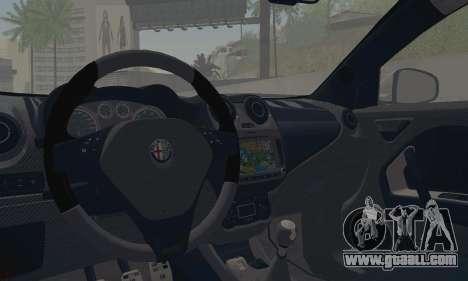 Afla Romeo Mito Quadrifoglio Verde for GTA San Andreas inner view