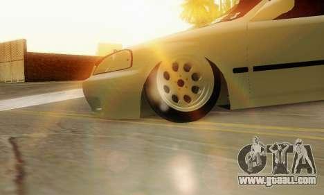 Honda Civic ek Coupe Hellaflush for GTA San Andreas right view
