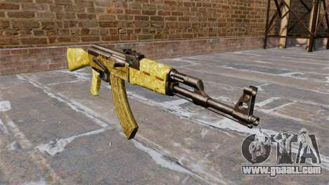 The AK-47 Gold for GTA 4