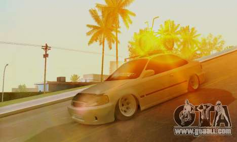 Honda Civic ek Coupe Hellaflush for GTA San Andreas left view