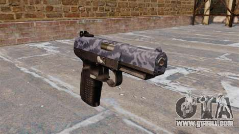 Gun FN Five-seveN Blue Camo for GTA 4