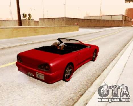 Elegy Convertible v1.1 for GTA San Andreas left view