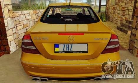 Mercedes-Benz CLK55 AMG 2003 for GTA San Andreas upper view