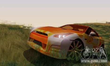 Nissan GTR Heavy Fire for GTA San Andreas