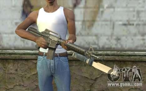 M4A1 with a bayonet for GTA San Andreas third screenshot