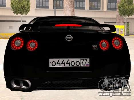 Nissan GTR-R35 Spec-V for GTA San Andreas back view