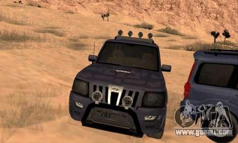 Mahindra Scorpio for GTA San Andreas bottom view