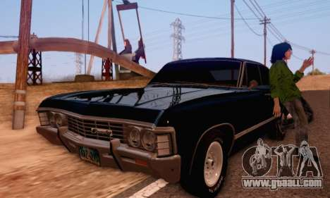 Chevrolet Impala 1967 Supernatural for GTA San Andreas right view
