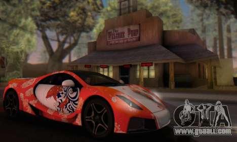 GTA Spano 2014 HQLM for GTA San Andreas side view