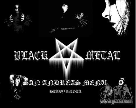 Black Metal Menu (full-screen) for GTA San Andreas