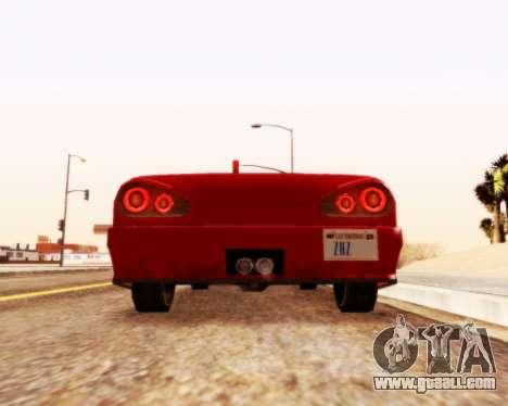 Elegy Convertible v1.1 for GTA San Andreas back left view