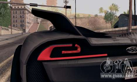 SSC Tuatara 2011 for GTA San Andreas back view