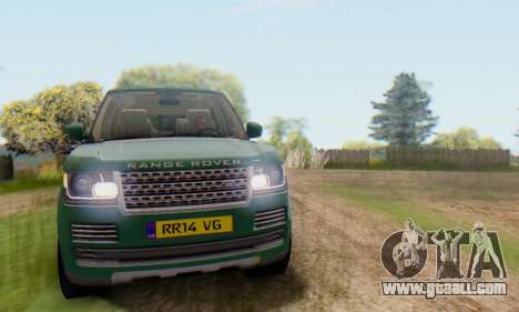 Range Rover Vogue 2014 V1.0 UK Plate for GTA San Andreas side view
