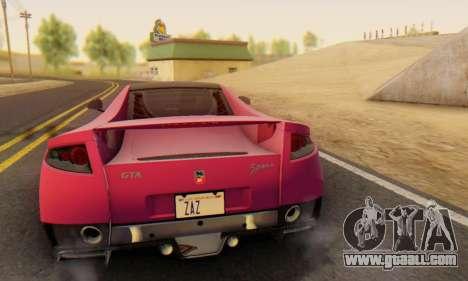 GTA Spano 2014 HQLM for GTA San Andreas upper view