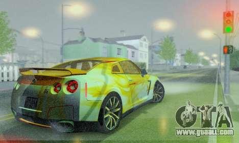Nissan GTR Heavy Fire for GTA San Andreas inner view