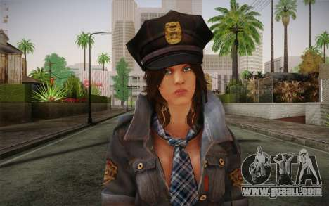 Helena Harper Police Version for GTA San Andreas third screenshot