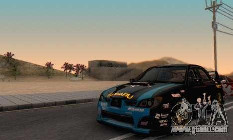 Subaru Impreza WRC STI Black Metal Rally for GTA San Andreas side view