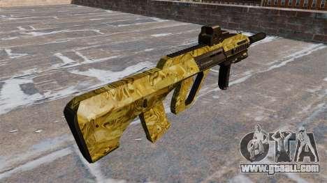 Machine Steyr AUG-A3 Gold for GTA 4 second screenshot