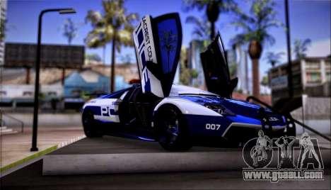 Lamborghini Murciélago LP670-4 SuperVeloce 2010 for GTA San Andreas left view